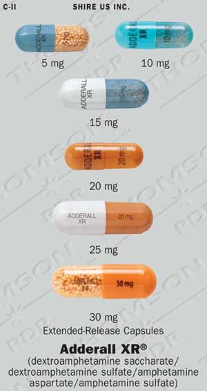 ADDERALL XR 30 mg Pill Images (Orange / Capsule-shape)