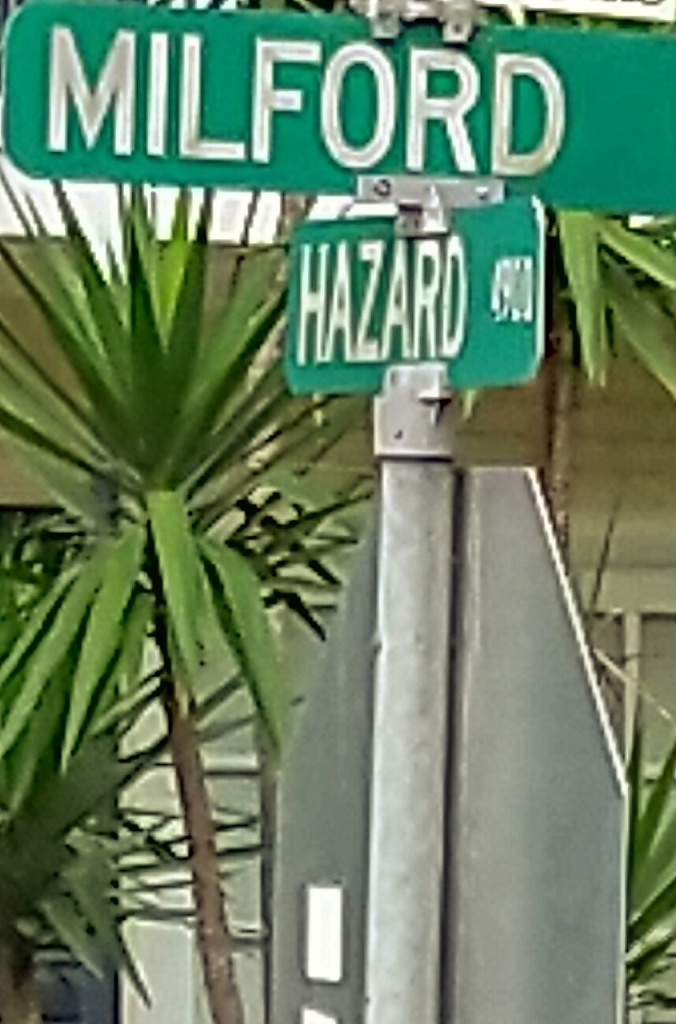 The intersection of Hazard and Milford
